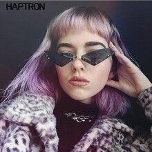 77c840e8c03 Triangle Sunglasses hippie cool sun glasses men small rimless cat eye  sunglasses women fashion mirror glasses