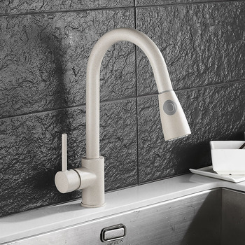 Kitchen Swivel Removable Faucet Black Painted Pull Out Down Water Saver Mixer Tap Modern Faucets Water TapTorneira Parede