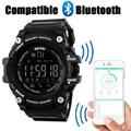 Новый SKMEI Бренд мужской Смарт-Спортивные Часы Bluetooth Калорий Шагомер Мода Часы Мужчины 50 М Водонепроницаемый Цифровой Часы Наручные Часы