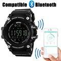 Nuevo Podómetro Calorías Inteligente Bluetooth Reloj Deportivo SKMEI hombres de la Marca de Moda Relojes Hombres 50 M Reloj Digital Resistente Al Agua Reloj de Pulsera
