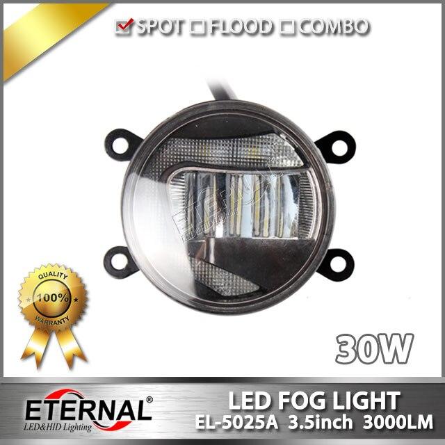 ФОТО free shipping 5prs 30W LED fog light automotive car off-road led fog lamp with halo ring for 4x4 JK CJ TJ YJ LJ XJ equipment