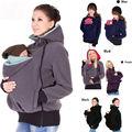Canguro bebé Vistiendo Chaqueta de Lana Con Capucha 3 En 1 Embarazadas de La Cremallera Outwear