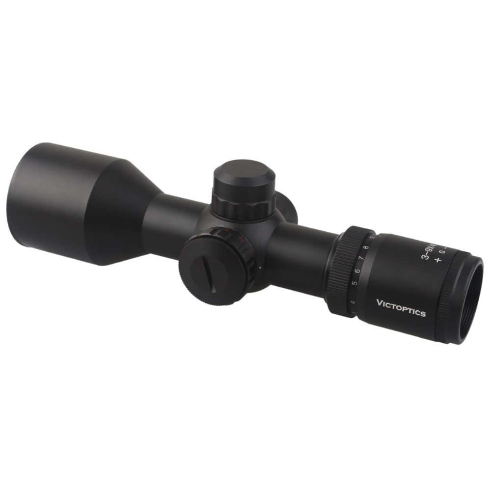 VictOptics 3-9x40 Hunting Riflescope Rifle Scope with 25.4mm 1 Tube Mil-dot Reticle 1/4 MOA 5Levels Illumination For 5.56 .223