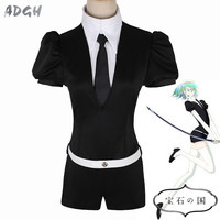 Houseki No Kuni Cosplay Costume Land Of The Lustrous Phosphophyllite Diamond Uniform Playsuit Short Sleeve Jumpsuit