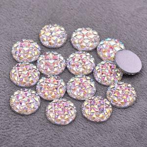6, 8, 10, 12, 16, 20, 30, 35 мм, большой кристаллический АБ, аппликация СТРАЗА, плоская задняя поверхность, круглые камни из смолы, не горячий фиксация, А...