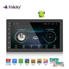 Hikity 2 Din Android GPS; стереооборудование для автомобиля Радио 7 «HD мультимедиа MP5 плеер Android/ISO Зеркало Ссылка Wi Fi приемник Suppport сзади камера