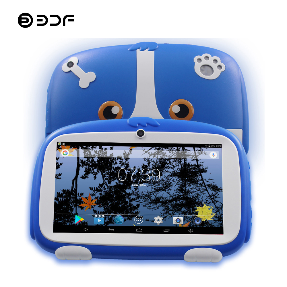 BDF 7 Inch Kids Android Tablets Pc Dual Camera 8GB 1024*600 Tab Pc For Baby Kids Tablet Quad Core Bluetooth WiFi Tablet 7 8 9 10