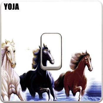 YOJA Horse Pentium Switch Decal PVC High-quality Wall Sticker Room Decorative 8SS0763 image