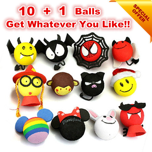 New Car Antenna Balls 10+1 Pcs Aerial Topper Ball Antena Bola Mini Roof Stickers Cartoon Decoration For Cars Quality Wholesale new 10 1