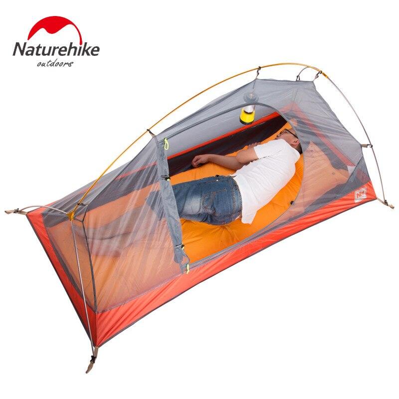 Naturehike уличная палатка с ковриком для кемпинга 1 человек 20D силиконовая ткань 4 сезона Сверхлегкая двухслойная палатка 1,3 кг 1,5 кг - 6