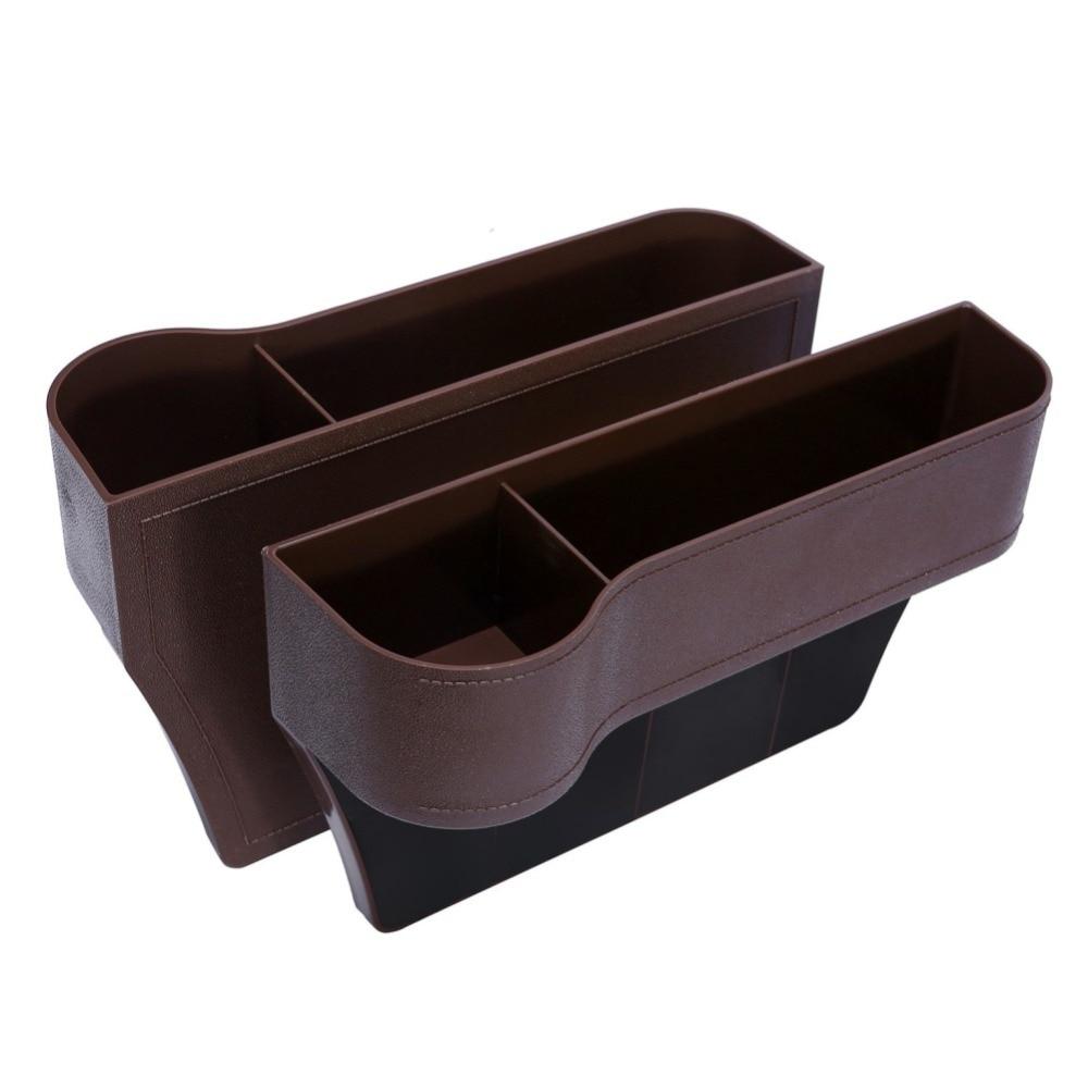 Seggiolino auto Fessura Lacune Storage Box ABS Plastica Bevanda Auto Tasche Organizzatori Dimensione Universale Sedili Interni Accessori 9449