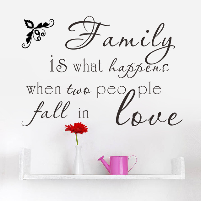 Family Is What Happens When Two People Fall In Love Diy Vinyl Lettering Words Quotes Saying