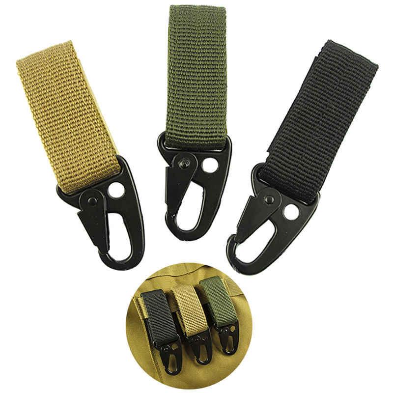 Cinghia Molle tessitura Moschettone Quickdraw clip da cintura campo zaino tattico borsa da viaggio kit fissare chiusura esterna bushcraft appendere