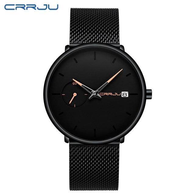 Crrju Sports Date Mens Watches Top Brand Luxury Waterproof Sport Watch Men Ultra Thin Dial Quartz Watch Casual Relogio Masculino |