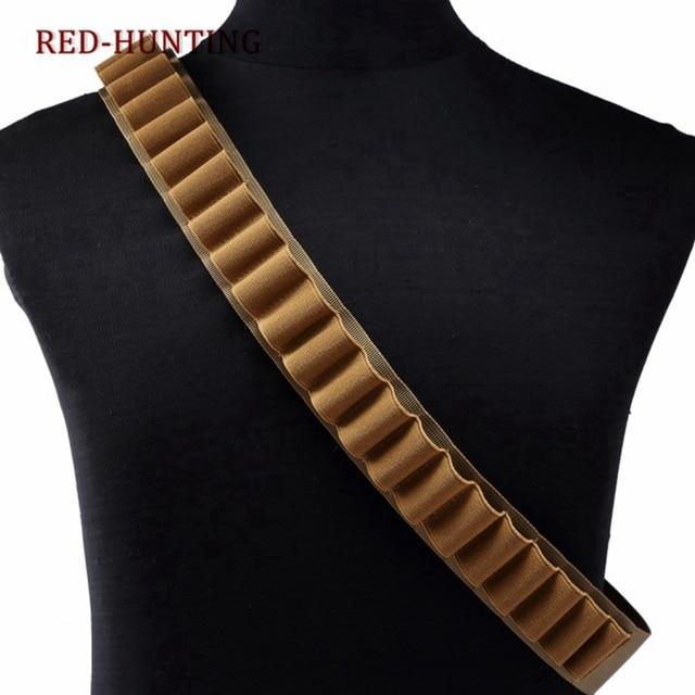 Tactical 26 Rounds Cartridge Shoulder Belt 12 Gauge Ammo Holder Outdoor Military Airsoft Hunting Gun Accessories Shell  Belt 1