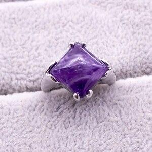 Image 3 - 20 ピース/ロット混合スタイルナチュラル紫水晶石リング 2018 新ファッション女性のジュエリー