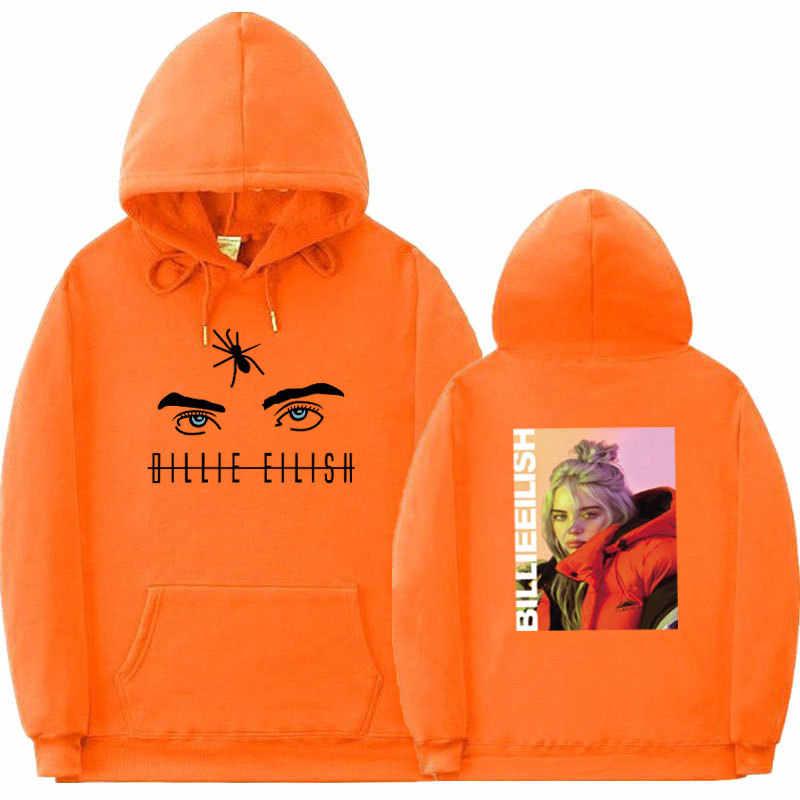 빌리 eilish 힙합 후드 티셔츠 코튼 프린트 후드 남성 여성 스와그 하라주쿠 까마귀 캐주얼 kpop supre fleece hoody