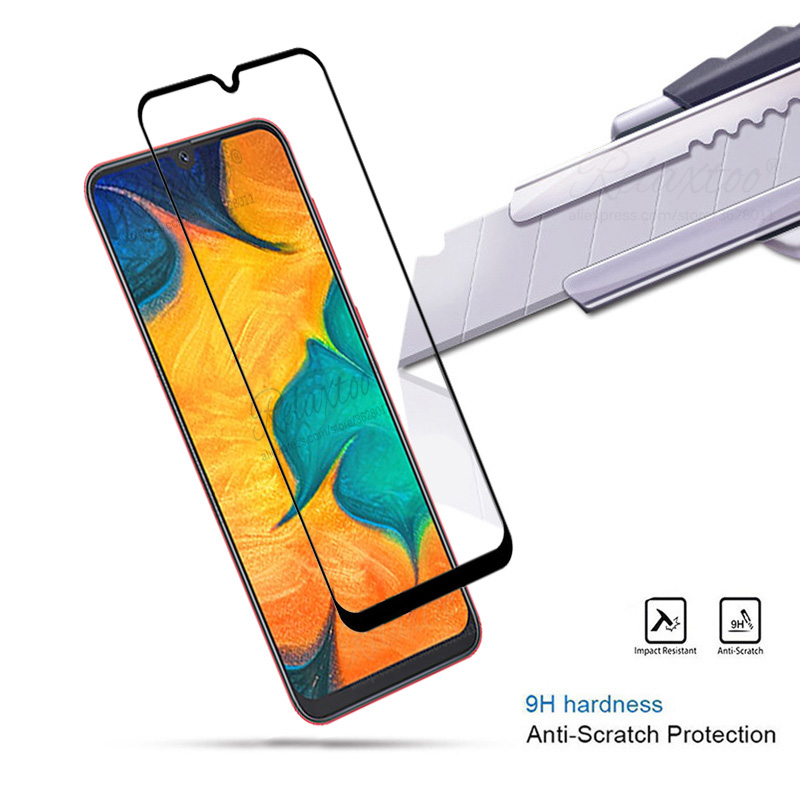 Image 2 - Tempered Glass For Samsung Galaxy A20 A30 A40 A50 protective Glass on the For Samsung A 20 30 40 50 A305F A405F A505F front film-in Phone Screen Protectors from Cellphones & Telecommunications