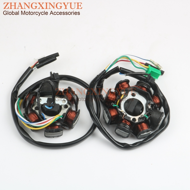 Scooter Ignition Stator 6 8 coils for SYM VS Megalo Tonik X Pro125cc GY6  125/150 152QMI 157QMJ 4 stroke-in Motorbike Ingition from Automobiles &