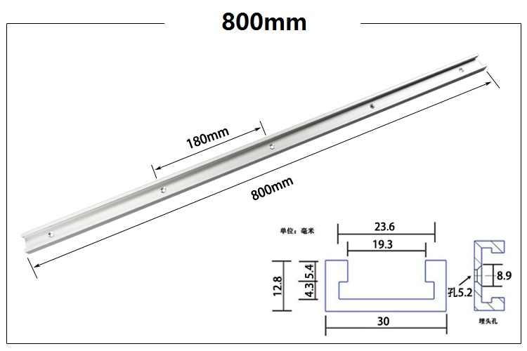 新 300 ミリメートル 400 ミリメートル 500 ミリメートル 600 ミリメートル 800 ミリメートル標準アルミの T トラック、マイタートラック/スロット用テーブル