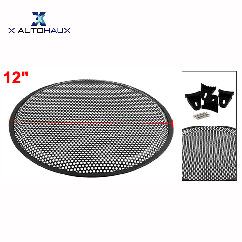 X AUTOHAUX 10 12 Car Audio Speaker Mesh Sub Woofer Subwoofer Grill Dust Decoration Cover Protector Subwoofer Grill Frame COVER