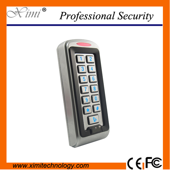 Hot sale metal face waterproof single door access control standalone M05 MF card 13.56mhz card reader access control metal rfid em card reader ip68 waterproof metal standalone door lock access control system with keypad 2000 card users capacity