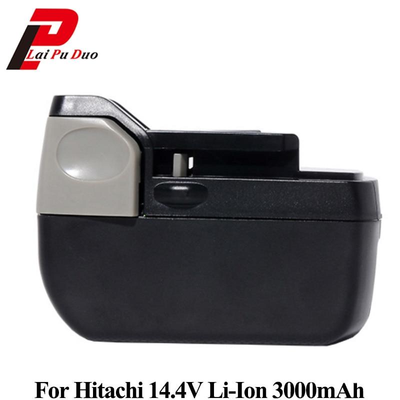 Replacement battery 14.4v 3.0Ah Li-ion for Hitachi: BSL1430, CJ14DSL, BSL1440, CR14DSL, BSL1415, DDS14DSL new arrival 14 4v 4 0ah li ion replacement battery for hitachi bsl1430 bsl1415 326236 327729 326824 326823 bcl1430 c 2 wholesale
