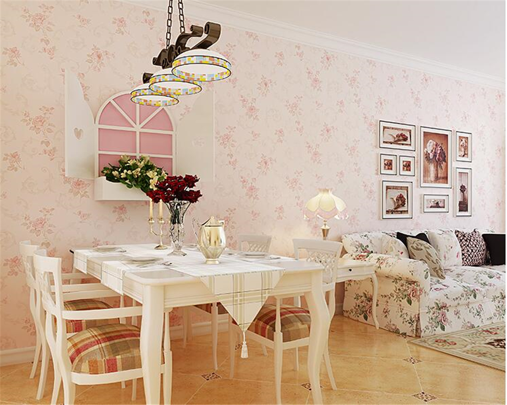 beibehang European Garden bedroom warm floral wall paper background nonwoven papel de parede 3d wallpaper living room background beibehang european style fine nonwoven fabric imitation papel de parede 3d wallpaper bedroom background simple plain wall paper