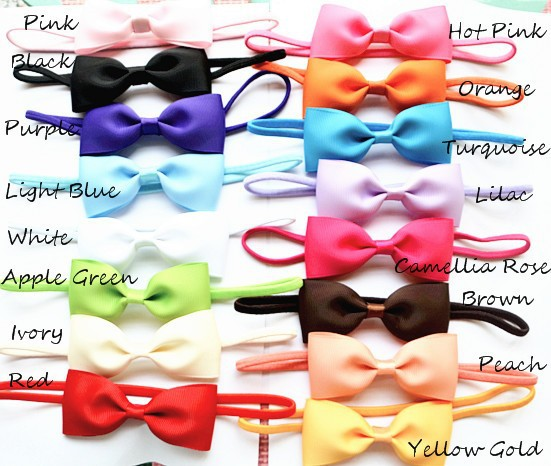 2.5inch Ranbow Colors Big Bows for hair Children Ribbon Bowks