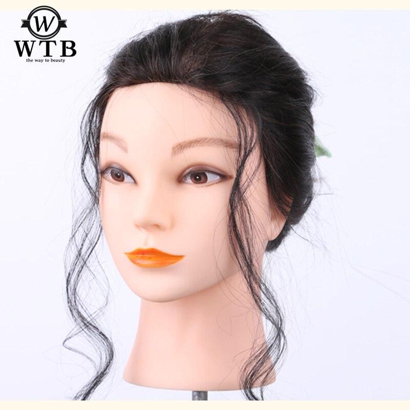 WTB Lado Feminino Franja Franja Falso Cabelo Sintético para As Mulheres Pieces Penteados Penteados cabelo Curto Encaracolado Resistente Ao Calor
