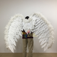 Angel Feather Wings Electrically Stretching Wings Festival Decoration Feather Angel Wings Hallowmas Christmas Cosplay Fancy Prop