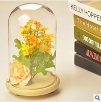 Creative Landscape Cover Glass DIY Microscopic Living Flowers Cover The Glass To Protect Flowers Micro Landscape
