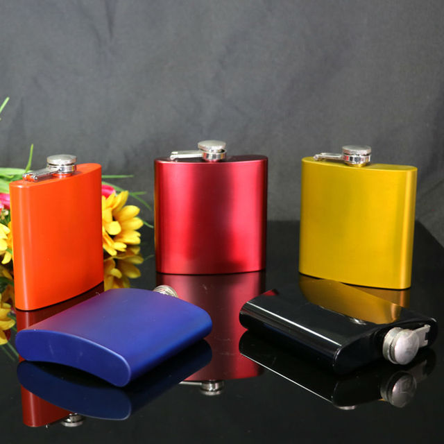Personalized Mixed Color 6oz Stainless Steel Hip Flask Alcohol Whiskey Liquor Wine Drinkware Flagon