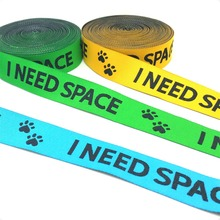 """2016 NEW wholesale 7/8"""" 22mm 10yard/lots 100% Polyester Woven Jacquard Ribbon For Dog Collar with yellow green blue I need space"""