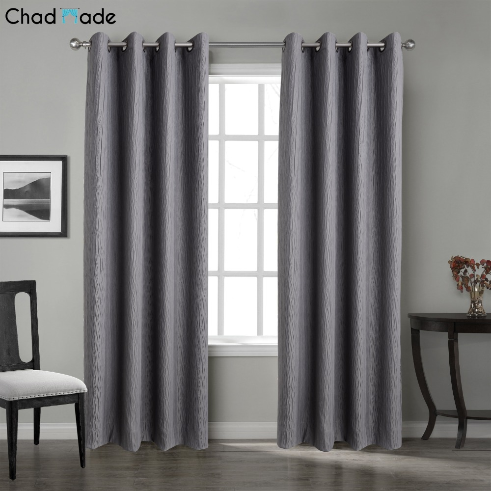 chadmade solid crinkle blackout lined curtain 1 panel drape antique bronze grommet window curtain 100