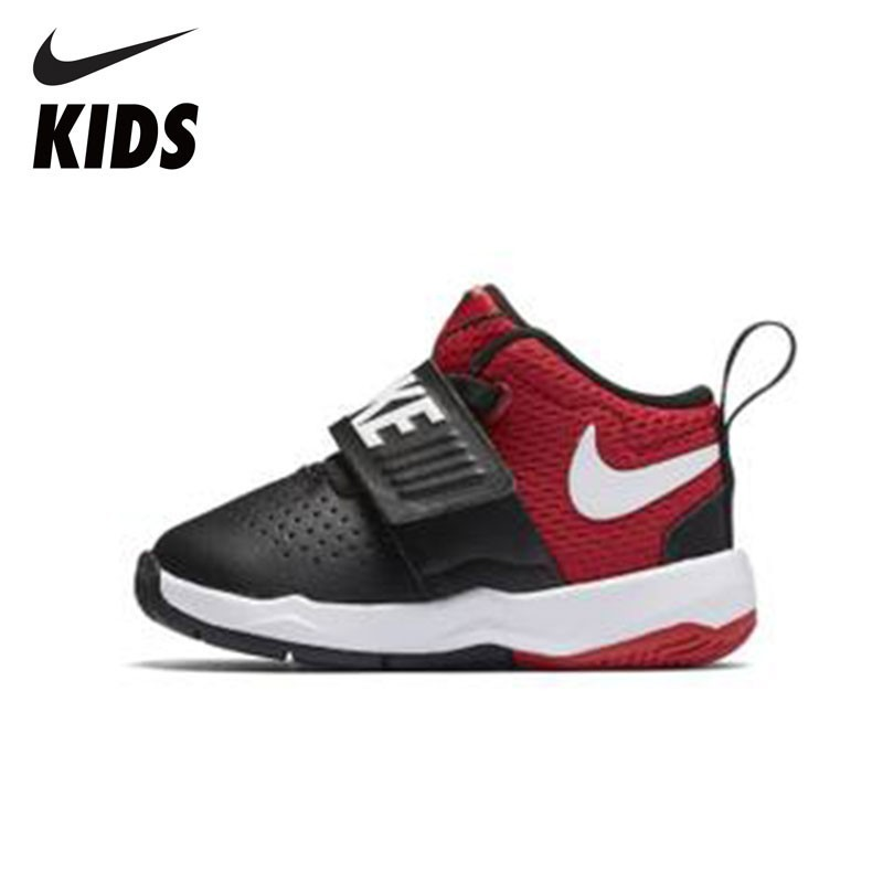 NIKE Kids TEAM HUSTLE D 8 New Arrival Outdoors Boys And Girls Sneakers Basketball Kid's Running Shoes Breathable 881943 кроссовки nike team hustle d 8 gs basketball shoe boys 881941 301