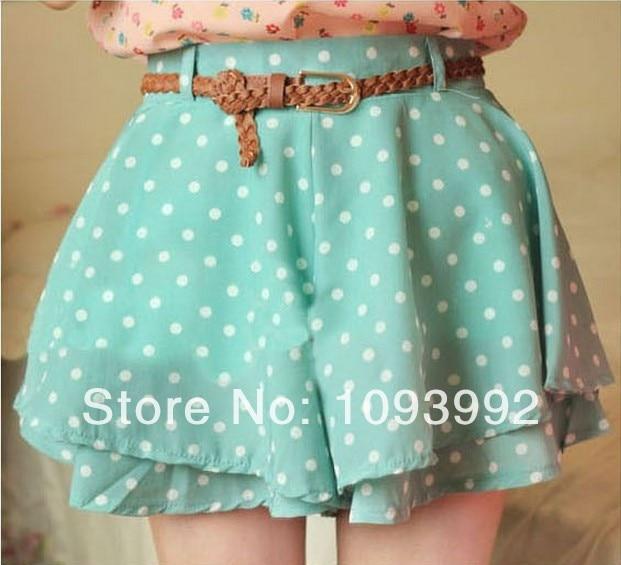Spring-2014-Discount-Korean-Cute-Polka-Dots-Chiffon-Ruffle-Skirt-Shorts -Women-Black-White-Skorts-Cheap.jpg
