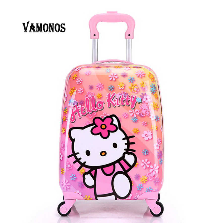 16inch 2016 new ABS+PC cartoon child suitcase/free shipping high quality cartoon Luggage /Boy and Girl Cartoon trolley case box 21 inch students scooter suitcase boy cool trolley case 3d extrusion high quality pc separable travel luggage child boarding box