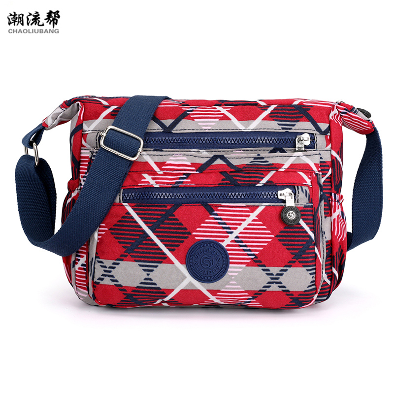 Waterproof Nylon Women Shoulder Bag Casual Women Handbags High Quality Female Multi-pocket Zipper Messenger Bag Bolsas