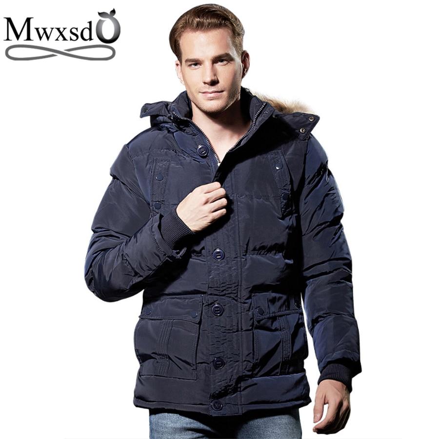Mwxsd brand Men winter warm hooded parka jacket male warm thick jacket hombre warm jacket jaqueta masculina inverno цены онлайн