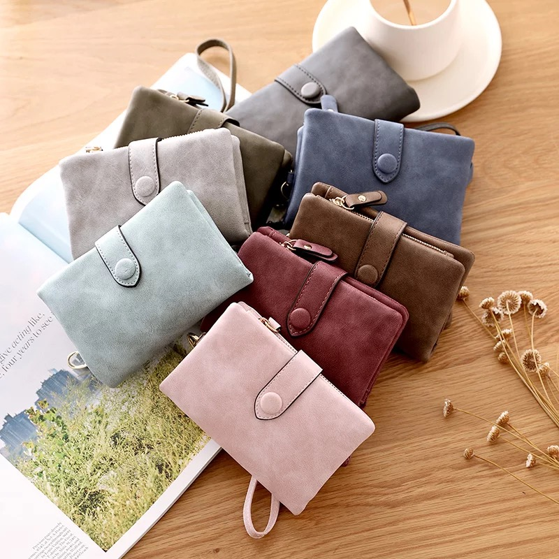 Women Cute Small Wallet Pu Leather Girls Change Clasp Purse Card Holders Coin Purse New Novel In Design;