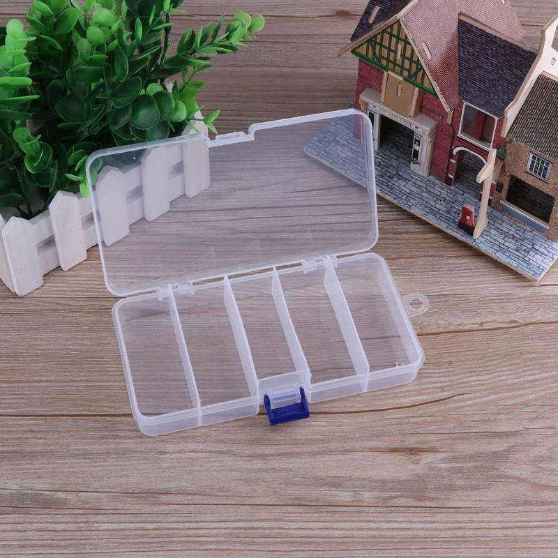 5 Compartments Fishing Lure Bait Hooks Storage Box Waterproof PVC ABS Storage Case Portable Fishing Tackle Boxes pesca