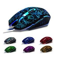 Nouveau 6D bouton 4000 DPI USB filaire souris LED nuit lumière Gaming Mouse souris pour ordinateur portable bateau libre