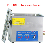 Adjustable PS-30AL Ultrasonic Cleaner with Basket jewelry Cleaning Machine 70-80W 40KHz 6.5L Household glasses razor cleaner