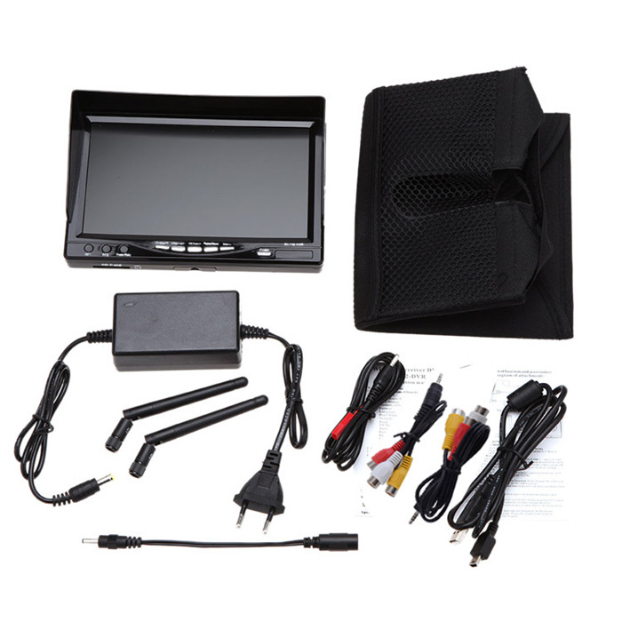 RC732-DVR All-in-one 7 Inch 800*480 HD LCD FPV Monitor Built-in Battery and 32CH 5.8G Wireless Diversity RC Receiver