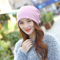1 Pcs Hot Vender Outono Inverno Manter Quente Tampão Feito Malha Das Mulheres vazio Chapéu Cachecol Dois Uso Skullies Gorros Sólida faixa de Cabelo 8 cores