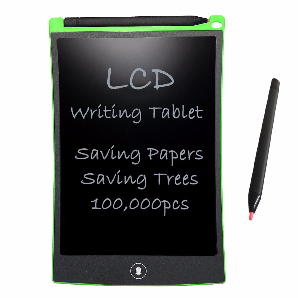 NEWYES Green LCD Writing Tablet da 8,5 pollici Electronic Drawing Pads Pocketbook per bambini regalo giocattolo riutilizzabile bacheca cancellabile