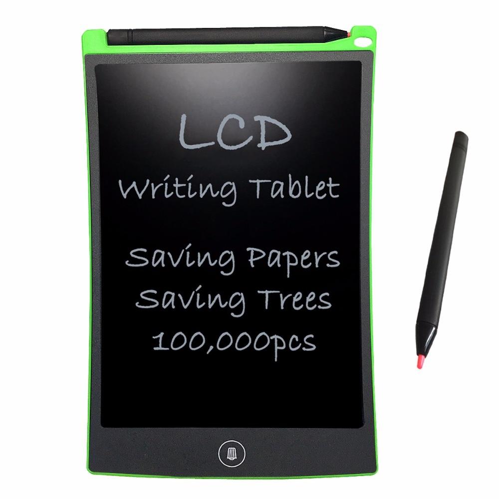 NEWYES Verde Tableta de escritura LCD 8.5 pulgadas Cuadernos de dibujo electrónicos Pocketbook para regalo de los niños Juguete Reutilizable Tablero de mensajes borrable
