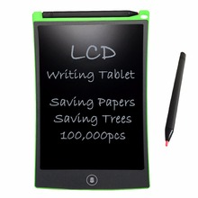 NEWYES Green LCD Writing Tablet 8.5 inch Electronic Drawing Pads Pocketbook for Kids Gift Toy Reusable Erasable Message Board