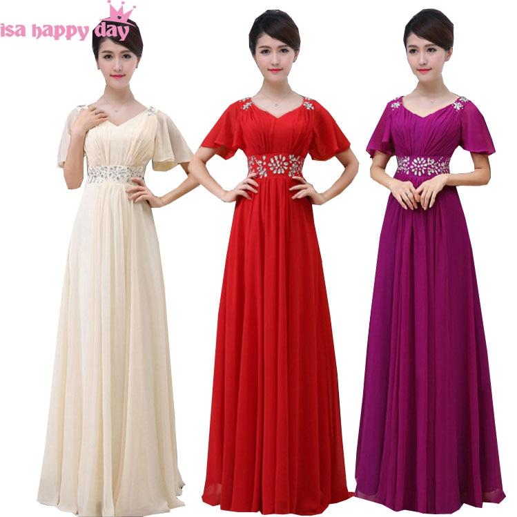 1636d820cb Suknie druhna 2019 purpurowy kobiety suknie rozmiar 18 długa suknia  szampana sukienka dla druhny w rozmiary plus rękawy cap B2004